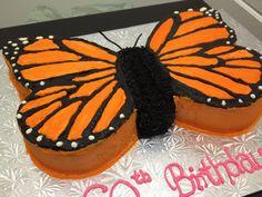 Monarch Butterfly Birthday Cake