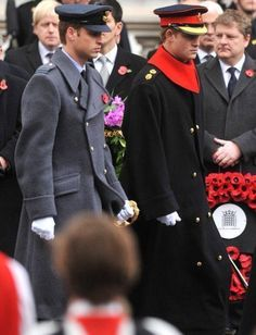 Princes William and Harry on Remembrance Day.