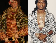 Before Sixteen – Cecilia Azcarate – Left : Portrait of Henry the Pious, Duke of Saxony by Lucas Cranach – 1514 / Right: Takeoff from Migos