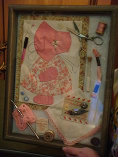 Shadow Box sewing | Shadow boxes are great ways to display some of your collections.