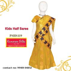 Saree Models, Half Saree, One And Only, Chennai, Little Princess, Kids Wear, Silk Sarees, Little Ones, Touch