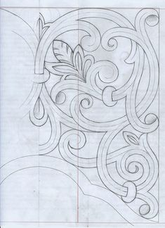 Leather Tooling Patterns, Leather Pattern, Wood Carving Patterns, Carving Designs, Motifs Art Nouveau, Ornament Drawing, Leather Carving, Machine Quilting, Islamic Art