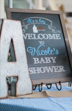 Milk and Cookies Chalk Welcome Banner for Baby Shower. It's A Boy Baby Shower Sign. {PRINT & SHIP} Baby Shower decor by SouthernSwish