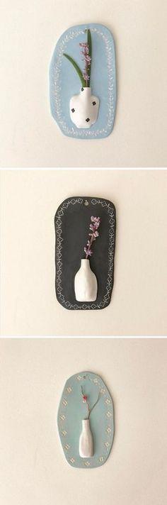 Ceramic vases by Hyeyoun Shin / on the Blog!