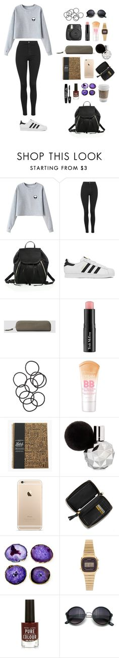 """Untitled #83"" by marylobo99 ❤ liked on Polyvore featuring Chicnova Fashion, Topshop, Rebecca Minkoff, adidas, AllSaints, Trish McEvoy, H&M, Maybelline, Tory Burch and Mapleton Drive"