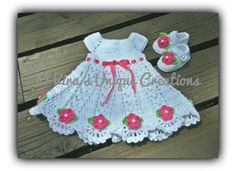 Hey, I found this really awesome Etsy listing at https://www.etsy.com/listing/235431378/baby-girl-crochet-dress-and-booties-set