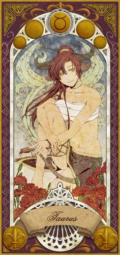 Pixiv Id 1702335 Image - Zerochan Anime Image Board Anime Zodiac, Zodiac Art, Zodiac Horoscope, Zodiac Taurus, Tarot, Taurus Art, 12 Zodiac Signs, Image Manga, Cartoon Art