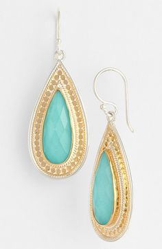 Anna Beck 'Gili' Large Turquoise Teardrop Earrings available at #Nordstrom