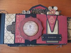 annes papercreations: Graphic 45 French country double mini album tutorial