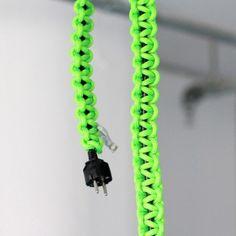 knot*knot 2m schwarze Verlängerung mit neongrünem Strangknoten | selekkt.com