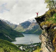Flydalsjuvet above Geirangerfjord, Norway ✿
