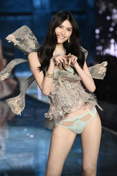 7c59cd40e3 Model Sui He from China walks the runway during the 2015 Victoria s Secret  Fashion Show at