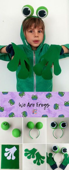 Easy no-sew frog costume: Just So Festival 2017