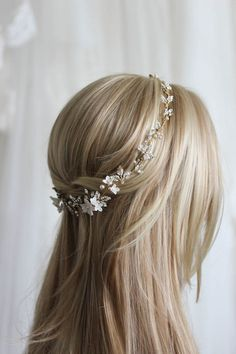 For the love of mixed metals   Boho bridal headpiece