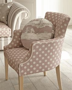 Armchairs Upholstered From Traditional Country Designer Fabrics - Vanessa Arbuthnott