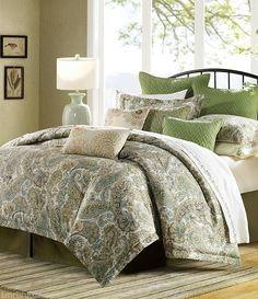 6pc harbor house serena king comforter set u0026 pillows floral paisley beige green