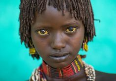 Litte Hamer Girl Tribe In Traditional Outfit, Turmi, Omo Valley, Ethiopia | Flickr - Photo Sharing!