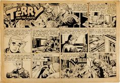 Original Comic Art:Comic Strip Art, George Wunder Terry and the Pirates Sunday Comic StripOriginal Art dated 12-18-55 (News Syndicate, 1955). ...