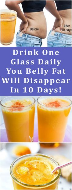 Drink One Glass Daily – You Belly Fat Will Disappear In 10 Days! #health #beauty #belly #fat #reduce #weight #loss #diy #keto