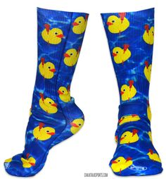 Perfect socks for when you are cranking shots and ripping the duck!