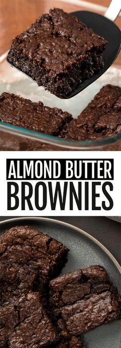 Almond Butter Brownies Healthy Vegan Desserts, Healthy Chocolate, Chocolate Recipes, Paleo, Flourless Chocolate, Flourless Brownie, Baking Chocolate, Chocolate Truffles, Chocolate Brownies