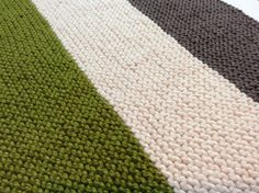 Hand Knit Baby Blanket Modern Color Blocks by ButterBrickleBaby on Etsy