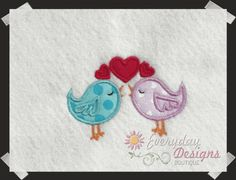 applique embroidery hearts | cream heart applique free embroidery design love letter bird applique