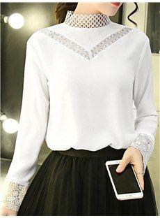 ファッション女性春秋新ファッション ブラウス ホワイト 長袖トップスは格安とか人気のものなどいろいろな種類があり、ここで。一番のサービスと最高品質の商品Doresuweで提供しています。