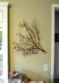 My new earring tree. Manzanita branches and a couple nails....easy!