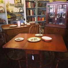 Smaller Scale Mid Century Maple Dining Set.