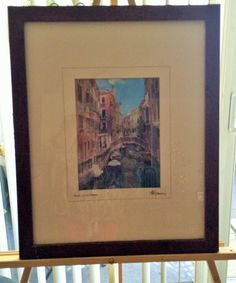 Hand Painted Photo by Martin Roberts Canal With by USANOW on Etsy