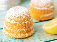 Sitruunapullat - Pirkanmaan Keittokomero -palvelu. Vanilla Cake, Cookie Recipes, Good Food, Cupcakes, Cookies, Eat, Breakfast, Desserts, Nice