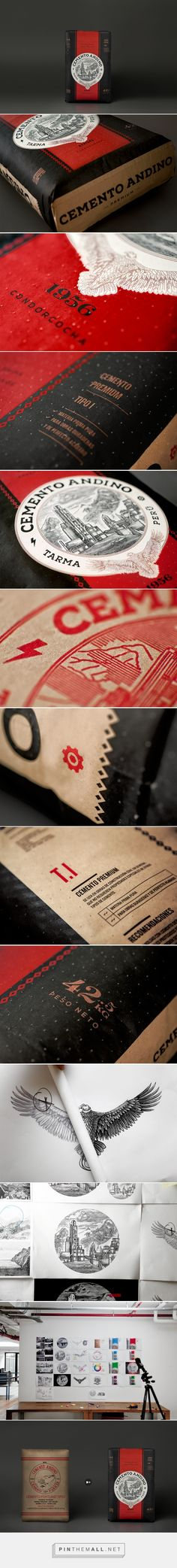 Cemento Andino Cement Packaging redesigned by Brandlab (Peru) - http://www.packagingoftheworld.com/2016/06/cemento-andino.html