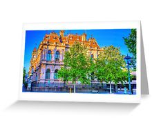 The Law Courts Building and Old Town Hall - Bendigo, Victoria Greeting Card