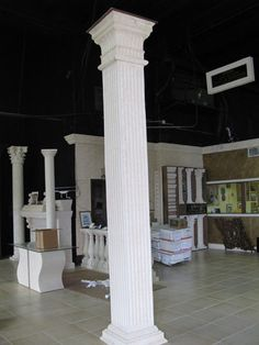 Square Columns | Square Fluted Wood Columns Pictures