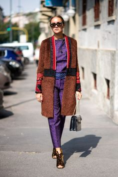 Nina Süss - mix and match look  THE BEST OF MILAN FASHION WEEK STREET STYLE SPRING 2017 BY THE IMPRESSION