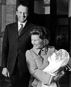 King Harald & Queen Sonja with their son Prince Haakon