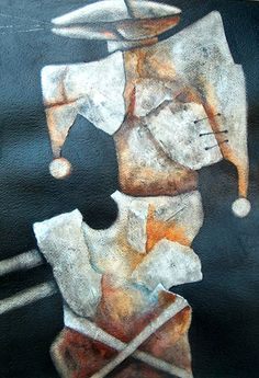 Antonio Nuñez , Figura Mutilada, mixed media on paper