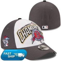 New Era Boston Red Sox 2013 MLB World Series Champions Locker Room 39THIRTY Flex Hat - Graphite/White