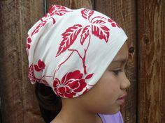BABY Newborn Preemie Women Children Toddler Wide Red Flower Headband Headscarf Headwrap Baggy Slouchy  by Goodtreasures123