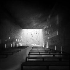 Interior visualization. Project of church in Wroclaw. Competition entry. Nowe Zerniki estate. Third prize. Authors: OVO Grabczewscy Architekci Marta Lata Dobrochna Lata Mateusz Pietryga Łukasz Migała
