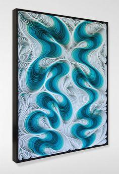 Twin Flame 36×48″ $12,800 Sculpted canvas and acrylic Artists: STALLMAN – Jason Hallman + Stephen Stum