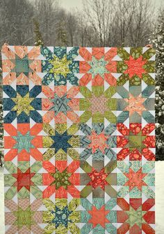 Salt Water Starburst Quilt Top by sewcraftyjess, THIS IS WHAT I AM DOING WITH MY SALTWATER