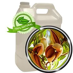 Sweet Almond Oil - 128 oz (1 gallon) - Virgin, Cold-pressed -- Visit the image link more details. (Amazon affiliate link)