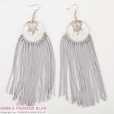 7. #Fringe Hoop Earrings - 11 #Fabulous DIY Hoop Earrings to Make ... → DIY #Stitch