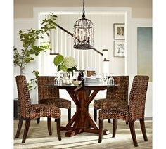 perfect for the dinette area - Seagrass Chair | Pottery Barn...love this setting