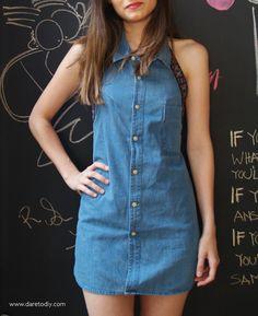 DIY Clothes DIY Refashion DIY Project: Boyfriend Shirt Ress