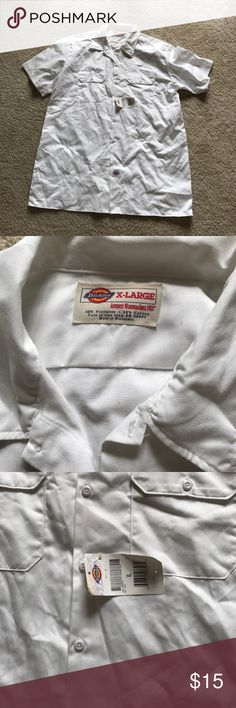 New Dickies White Button Up Brand new with tags white Dickies Button Up uniform top. Please ask if you have questions! Dickies Shirts