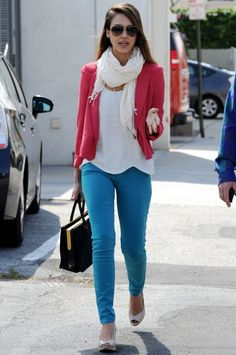 Colored jeans, cute