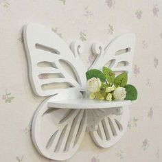 Tienda Online White Butterfly Hooks Carved Wooden Decorative Hangers Home Decoration Clothes Rails gancho de madeira Hook Hanger Wood Projects, Woodworking Projects, Wood Crafts, Diy And Crafts, Wall Shelf Brackets, White Butterfly, Wooden Shelves, Kids Furniture, Wood Art